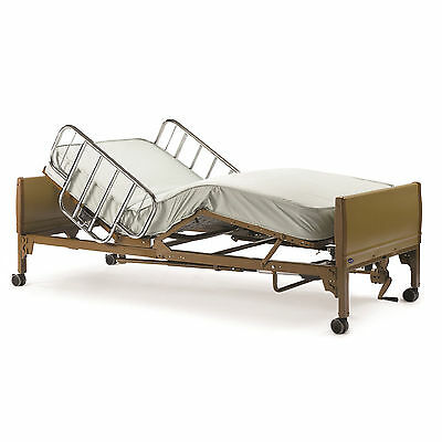 Full Electric Hospital Bed Package COMPLETE WITH MATTRESS SIDE RAIL AND FRAME