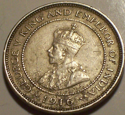 British Honduras, 1916 - H George V Five Cents, 5 Cents. 20,000 Mintage.
