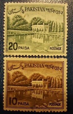 Pakistan 1961-1965 stamps set , block of 2 stamps set.