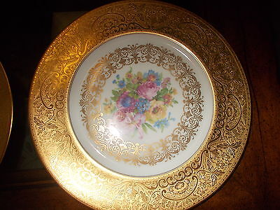 12 H & C Selb Bavaria Heinrich & Co., Imperial China  22KT Gold