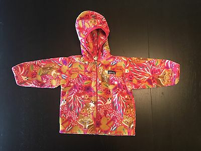 Patagonia Girl's Pink Fox Fleece Hoodie Jacket, 2T