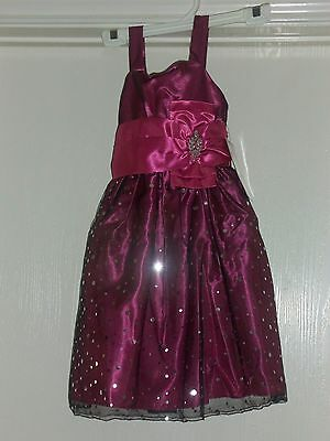 Girls Princess Faith Spring Church Party Dress Red Pink Sequins Size 6 NWT
