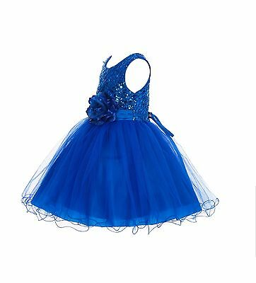 Wedding Glitter Sequin Tulle Flower girl Dress Toddler Bridal Easter Summer 011s