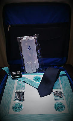 Master Mason regalia (LAMBSKIN) apron and case package