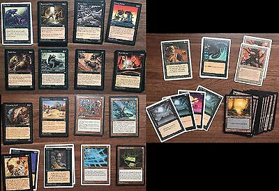 Magic: the Gathering MTG Rat Deck, early 1990's cards