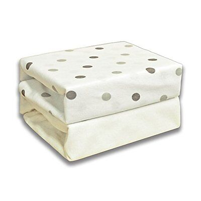 Cuddles Collection Moses Sheets (Dotty Cream)