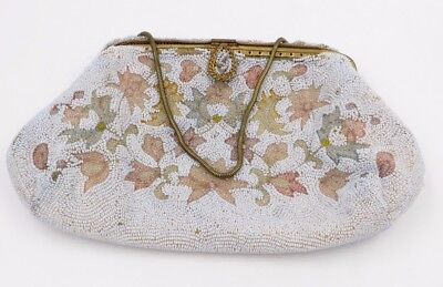 Vintage Pearl Beaded 60s Styled Made in Japan Evening Bag Purse LOT of 2