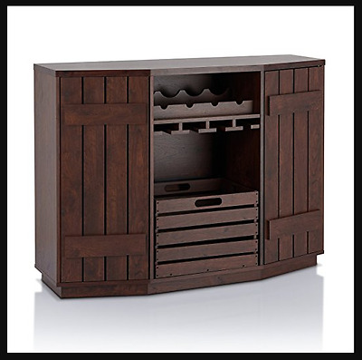 Hutch-Buffet-Kitchen-Island-Storage-Cabinet-Bar-Plank-Removable-Crate-Walnut