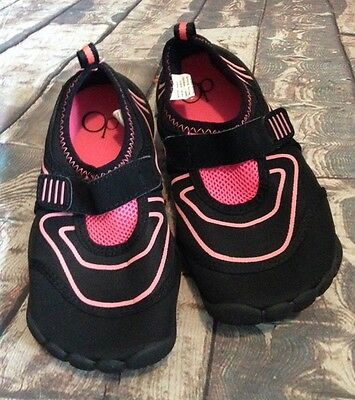Black And Pink Water Shoes By Op Girls Size 13-1 Medium
