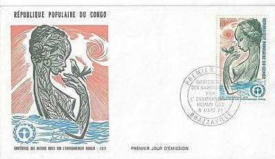 Congo #C143  United Nations Conference on Human Environment Population  FDC 1973