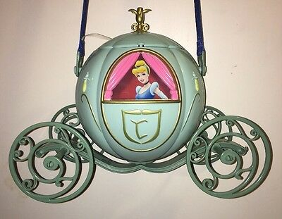 Disney Parks Cinderella Carriage Souvenir Popcorn Bucket Holder with Strap