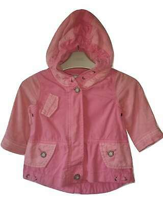 NEXT Coat Jacket Girls 3-6 Months Pink Hooded Baby BNWT New rrp £21