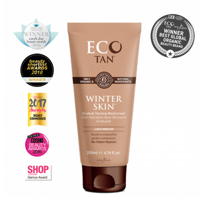 Eco Tan Winter Skin - Fair, Medium Skin Tones Gradual Tanning Moisturiser 200 ml