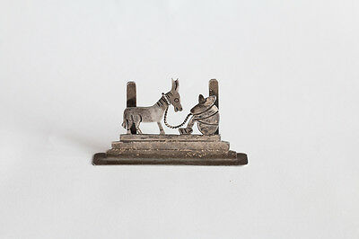 Vtg Sterling Silver Taxco Mexico Sietsa Donkey Business Card Holder Stand