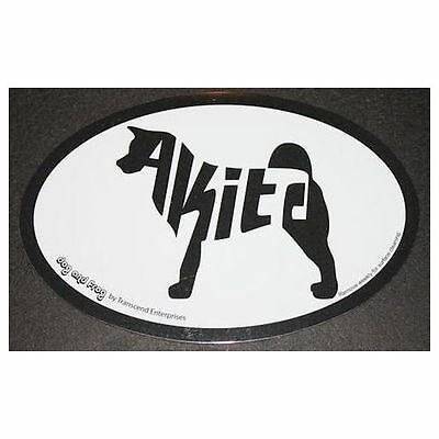 Akita Oval Euro Style Car Dog Decal Sticker