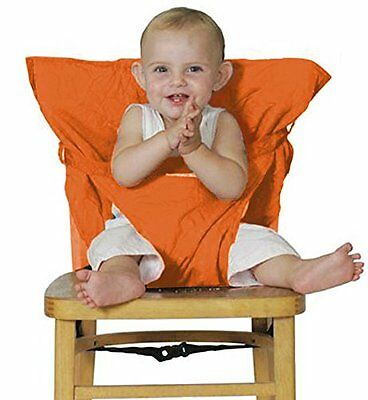 Millya Chair Harness Infant Baby Portable Travel Highchair Seat Cover(Orange)