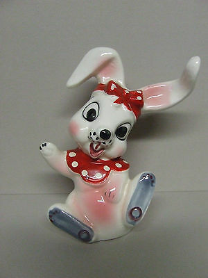 Vintage Artmark Bunny Rabbit w/Long Protruding Ears & Bow Salt/Pepper Shaker