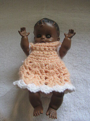 """Vtg Sunbabe """"So-Wee"""" Squeaker  Doll African American Ruth E. Newton Rubber"""