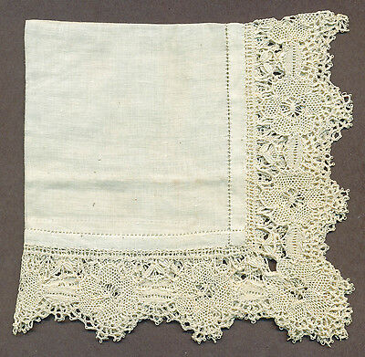 Antique Wedding handkerchief HandMade lace. original