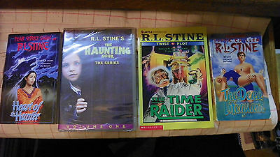 R.L. Stine quad: Haunting Hour DVD, Heart of Hunter, Dead Lifeguard, Time Raider