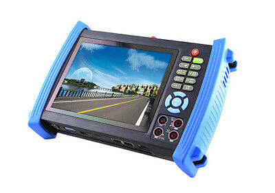 7 Inch HD IP CCTV Tester CVI AHD TVI3.0 Camera Tester TDR Optical Multimeter VFL