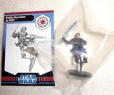 Star Wars Miniatures ANAKIN SKYWALKER On STAP #4 Very Rare Clone Wars NEW SEALED