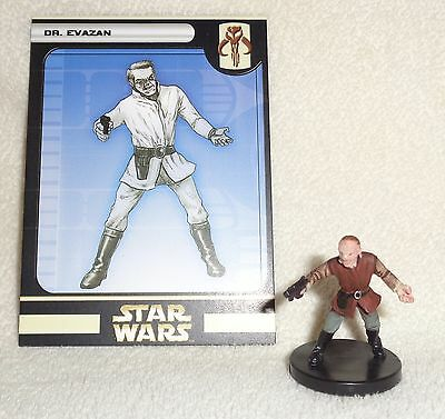 Star Wars Miniatures UNIVERSE Dr. EVAZAN #17/60 Doctor with Card * WOTC MINT
