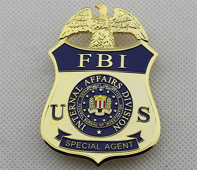 American Special Agent Emblem Halloween Cosplay Badges Pin Brooch Collection