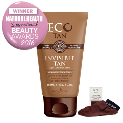 Eco Tan Invisible Tan (Medium & Olive Skin Tones) 150 ml + FREE EXFOLIANT GLOVE