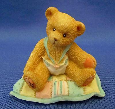 "Cherished Teddies ""A Gift To Behold"" Baby Teddy Bear Figurine - Enesco 1997"