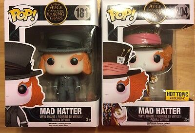 Pop Mad Hatter #181 And Hot Topic Exclusive #204 New In Box. Alice In Wonderland