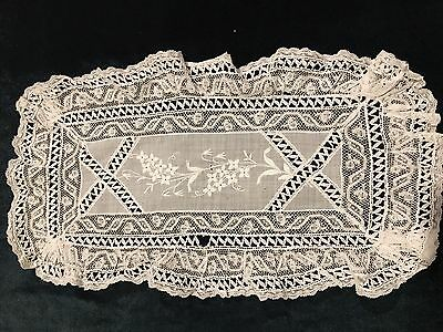 Embroidered French Layer Antique White Bridal Handkerchief