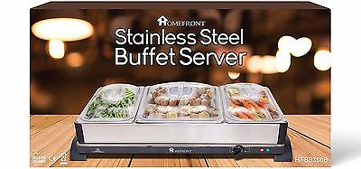 HOMEFRONT 2 in 1 X LARGE PRO-SERIES BUFFET/HOT TRAY FOOD SERVER FOOD WARMER