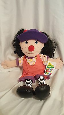 NOS Vintage 1995 Big Comfy Couch Loonette the Clown Plush Doll 20 Inches Tall