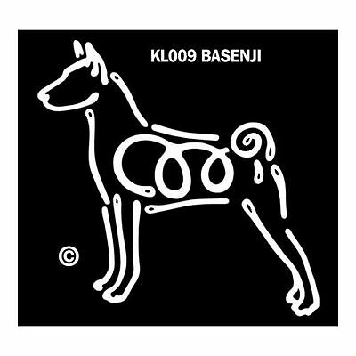 Basenji K-Lines Dog Car Window Tattoo Decal Sticker