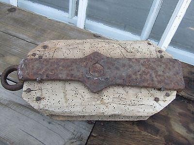 Antique Nautical ship wreck Pulley hand forged iron Primitive Block Mast Old