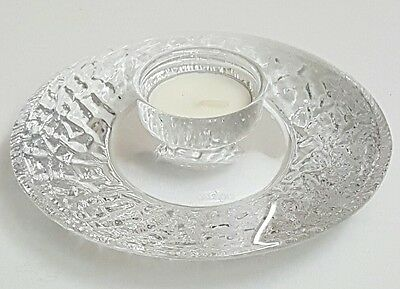 """Authentic - Orrefors - """"discus"""" Votive Crystal Tealight Candle Holder - Hellsten"""