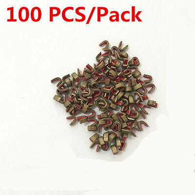 100 Pack Archery String Nocking Point Brass Nock Bow String Protect Buckle Clips