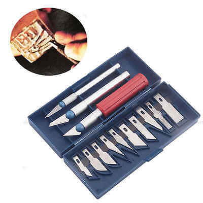 13Pcs Set Razor Hobby Blade Cutter For Multi-Purpose Crafts Art Cutting Tool