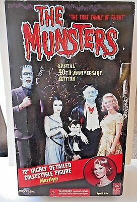 """THE MUNSTERS 40th ANNIVERSARY 12"""" MARILYN DOLL  NEW IN SEALED BOX"""
