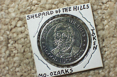 Shepard of The Hills Ozarks / Branson Missouri Good Luck Coin  Nice Unc.