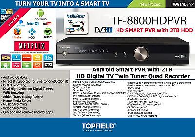 Topfield TRF-8800HD 2TB Smart PVR HDMI Android Kodi ShowBox Netflix  more
