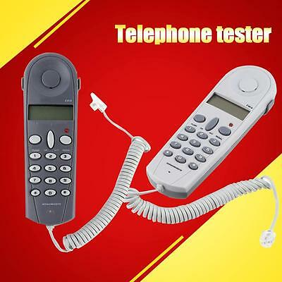 Telephone Phone Butt Test Tester Lineman Tool Cable Set Professional Device S+