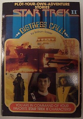 "Vintage/collectible 1982 Star Trek Ii ""distress Call"" Plot Your Own Adventure"