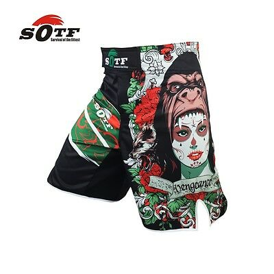 SOTF Green Orangutan Breathable Ferocious Boxing Shorts Exercise Trunk Tiger MMA