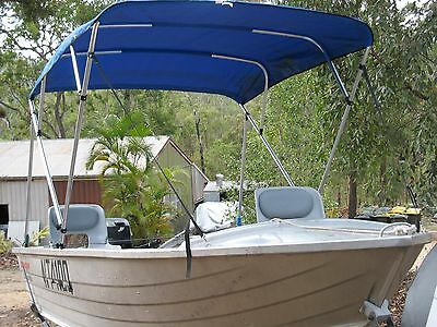 3.8m Stacer Seasprite dinghy with 25hp Mercury Outboard