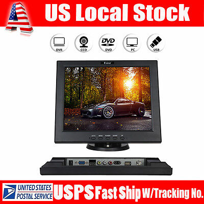 "12"" TFT LCD Monitor 800*600 4:3 HDMI AV For CCTV Security Camera PC monitor NEW"