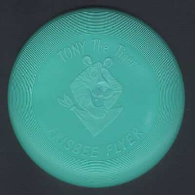 1988 Tony the Tiger Green Frisbee Flyer Kellogg's Cereal Premium