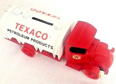 Texaco ERTL Diecast Die Cast Bank Tanker Metal Truck Series 1985 Red Toy Vintage