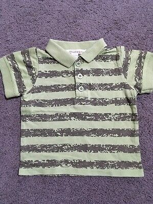 Baby Boys Short Sleeved Charlie & Me Green Polo Top Size 0-3 Months EUC